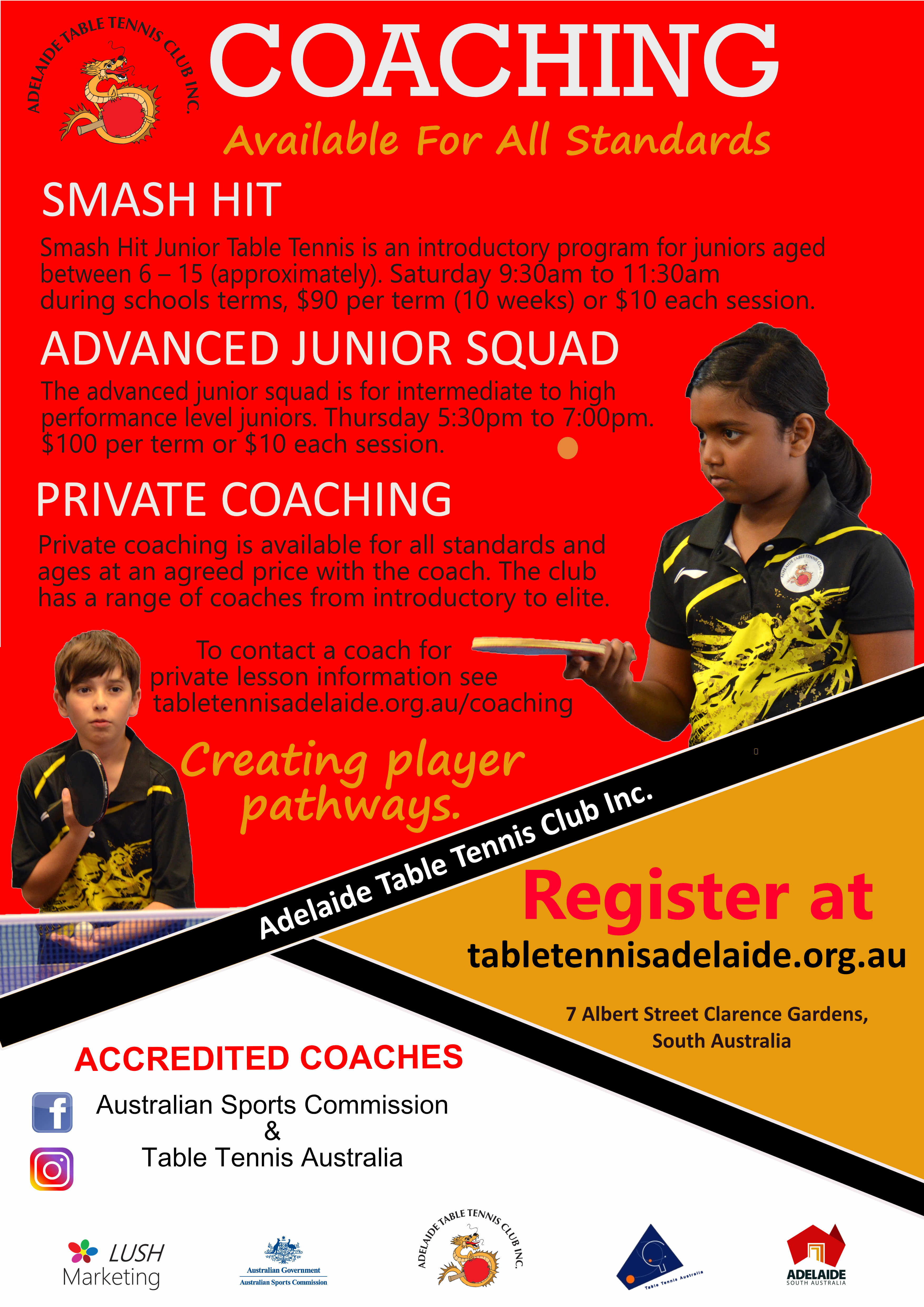 Adelaide Table Tennis Coaching